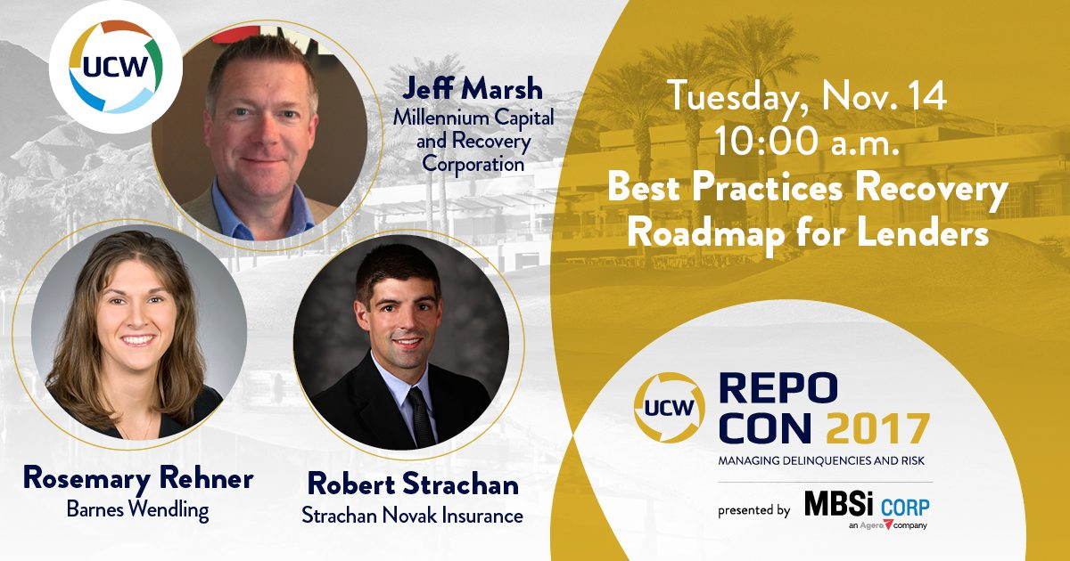 Best Practices Recovery Roadmap for Lenders - Millennium workshop session at Repo Con 2017